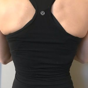 Black lululemon Xs 4 black cool racerback tank top